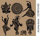 set of ornamental indian