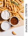 french fries and bowls with...   Shutterstock . vector #219894706