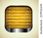 app icon with brown wood...