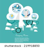 cloud computing concept | Shutterstock .eps vector #219918850