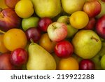 ripe fruits and vegetables ... | Shutterstock . vector #219922288