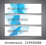 abstract banner with polygon... | Shutterstock .eps vector #219930088