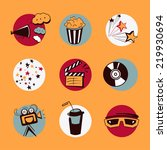 cinema icons set | Shutterstock .eps vector #219930694