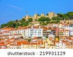 lisbon fortress of saint george ... | Shutterstock . vector #219931129