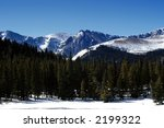 mountains in colorado in winter | Shutterstock . vector #2199322