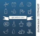 spa outline icons | Shutterstock .eps vector #219946249