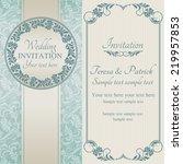 antique baroque wedding... | Shutterstock .eps vector #219957853