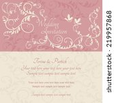 antique baroque wedding ornate... | Shutterstock .eps vector #219957868