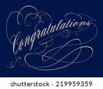 congratulations typography... | Shutterstock .eps vector #219959359