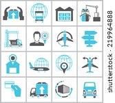 cargo management  icons ...