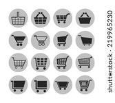 cart icon set | Shutterstock .eps vector #219965230