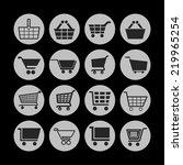 cart icon set | Shutterstock .eps vector #219965254
