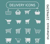 cart icon set | Shutterstock .eps vector #219965290
