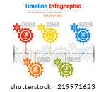 timeline gear new style | Shutterstock .eps vector #219971623