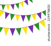 mardi gras party bunting | Shutterstock .eps vector #219978820