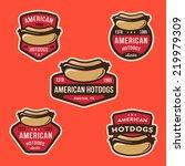 set of american hotdog badges... | Shutterstock .eps vector #219979309