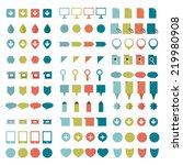 big set of flat icons.  | Shutterstock .eps vector #219980908
