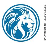 lion head circle | Shutterstock .eps vector #219992188