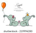 Stock vector elephants love 219996283