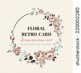 Vintage Floral Frame   With...