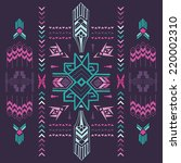 tribal vintage aztec background ... | Shutterstock .eps vector #220002310