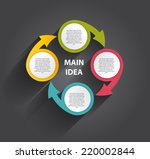 infographic templates for... | Shutterstock .eps vector #220002844