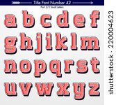 title font number 42 small... | Shutterstock .eps vector #220004623