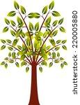green tree isolated green tree...   Shutterstock .eps vector #220005880