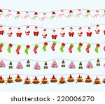 seamless christmas background | Shutterstock .eps vector #220006270