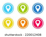 set of rounded colorful icons... | Shutterstock . vector #220012408