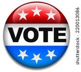 us vote badge | Shutterstock .eps vector #220013086