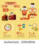 childhood obesity info graphic. ... | Shutterstock .eps vector #220018036