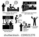 internet booking online ticket... | Shutterstock .eps vector #220021270