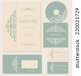 business cards or invitations...   Shutterstock .eps vector #220021729