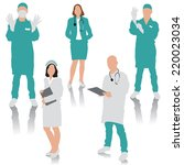 set of medical people. doctor ... | Shutterstock .eps vector #220023034