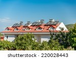 image showing solar panels and... | Shutterstock . vector #220028443
