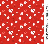 seamless red pattern with hearts | Shutterstock .eps vector #220039243