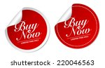 buy now stickers | Shutterstock .eps vector #220046563