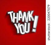 creative thank you  show... | Shutterstock .eps vector #220047079
