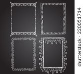 set of chalk painted frames on... | Shutterstock . vector #220051714