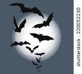 halloween background   flying... | Shutterstock .eps vector #220052230