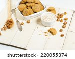 oatmeal cookie chips with... | Shutterstock . vector #220055374