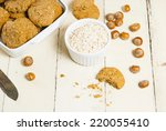 oatmeal cookie chips with... | Shutterstock . vector #220055410