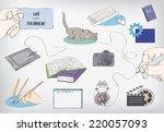 office   Shutterstock .eps vector #220057093