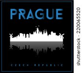prague  czech republic  skyline ... | Shutterstock .eps vector #220065520