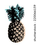 pineapple art pop art vector... | Shutterstock .eps vector #220066159