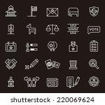 usa politics icons   Shutterstock .eps vector #220069624