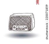 vintage radio  vector... | Shutterstock .eps vector #220071859