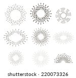 collection of vector retro sun... | Shutterstock .eps vector #220073326
