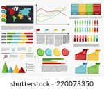 flat style infographics...